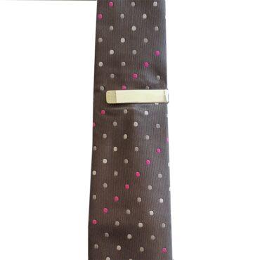 Me392 –  مشبك ربطة عنق فضة