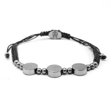 Me057 – Three Cylinders Shamballa Bracelet