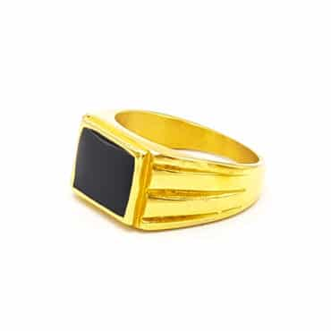 Me823 –  Gold 3 Lines Ring