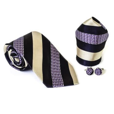 Elegant Man Set (Tie+ Hanky+Cufflinks)  – Me076