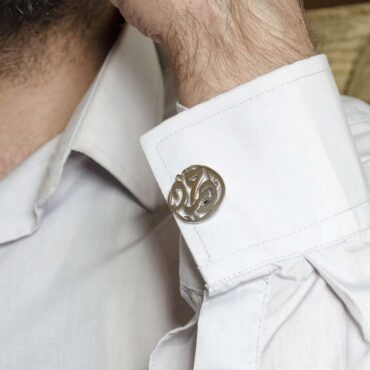 Customized Silver Cufflinks – Me098