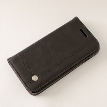 PHONE CASE Black LEATHER FOR IPHONE 7  – Me153