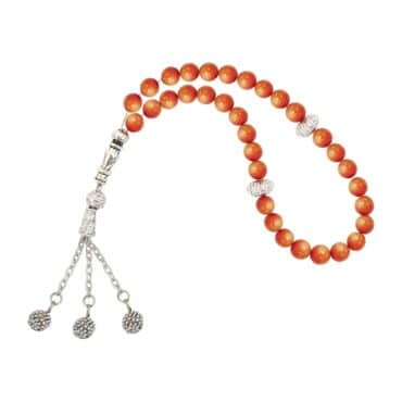 Me686 – Orange Beads Rosary