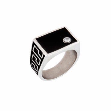 Me810 – Zircon Rectangle ring