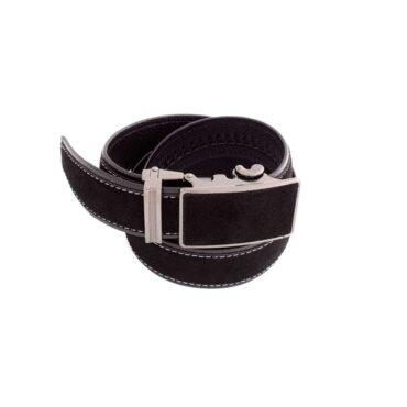 Me827 – Black / Brown Chamois Genuine Leather  Belt