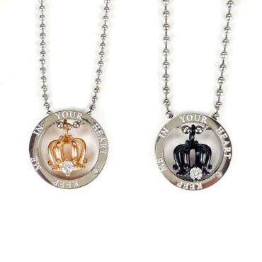Me435 – Set of 2 Crown Necklaces