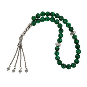 Me684 – Green Beads Lines Rosary