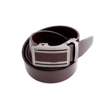 Me828 – Black / brown Genuine Leather Snake Belt