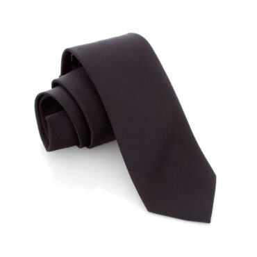 Me897 – Black Slim Tie