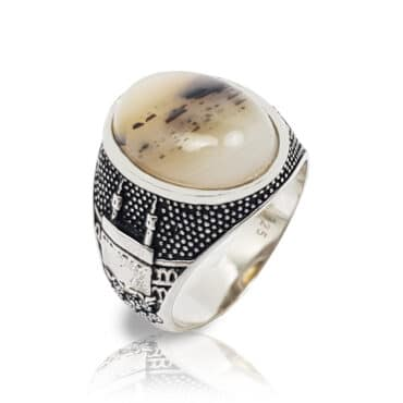 Me732 – SILVER RING WITH ONYX STONE