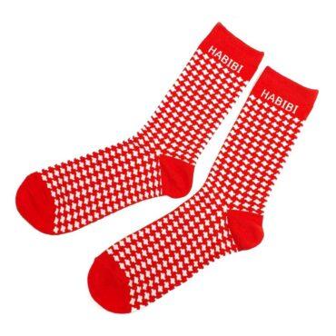 Me1211- Red Kuffiyeh Socks