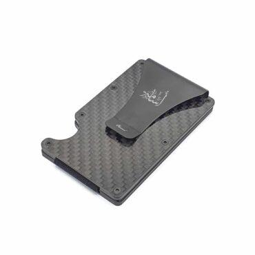 Me1393 –  محفظة من ألياف الكربون ومشبك نقود – محفظة جيب أمامية تعمل بتقنية RFID