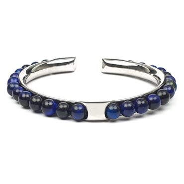 Me1450 – Blue Tiger Eye Stone  with Stainless steel bracelet