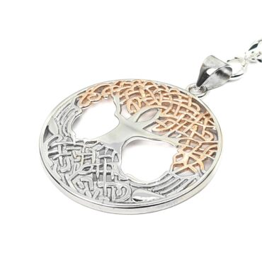 Me1137- Silver /  Tree of the life key chain