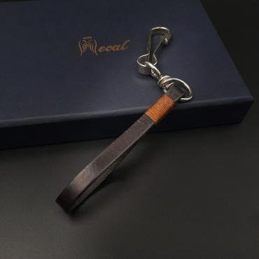 Me1500 –  Genuine Brown Leather keychain