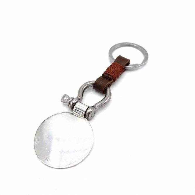 "Me1501 – علاقة مفاتيح حذوة الفرس مع تعليقة دائرية فضة ""إِنَّا فَتَحْنَا لَكَ فَتْحًا مُبِينًا"""